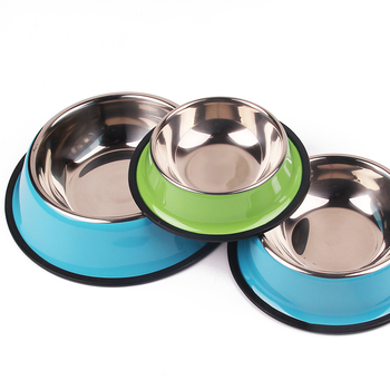 Pet Dog Bowls Customized Puppy ID Tag Personalized Nameplate Dog Bowl For Small Medium Large Dog Cats