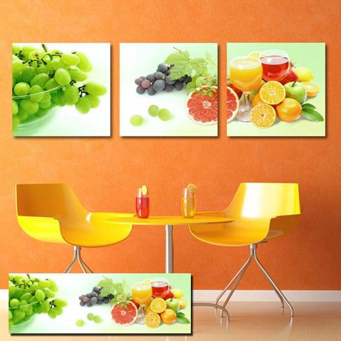 8 48 49 De Réduction Moderne Cuisine Salle Mur Décoratif Photo Raisin Orange Nature Morte Réaliste Art Imprimé Peinture Pour Décoration De