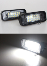 MZORANGE 1 pair LED Car License Plate Lights For Mercedes Benz W220 S-Class 1999-2005 Accessories SMD3528