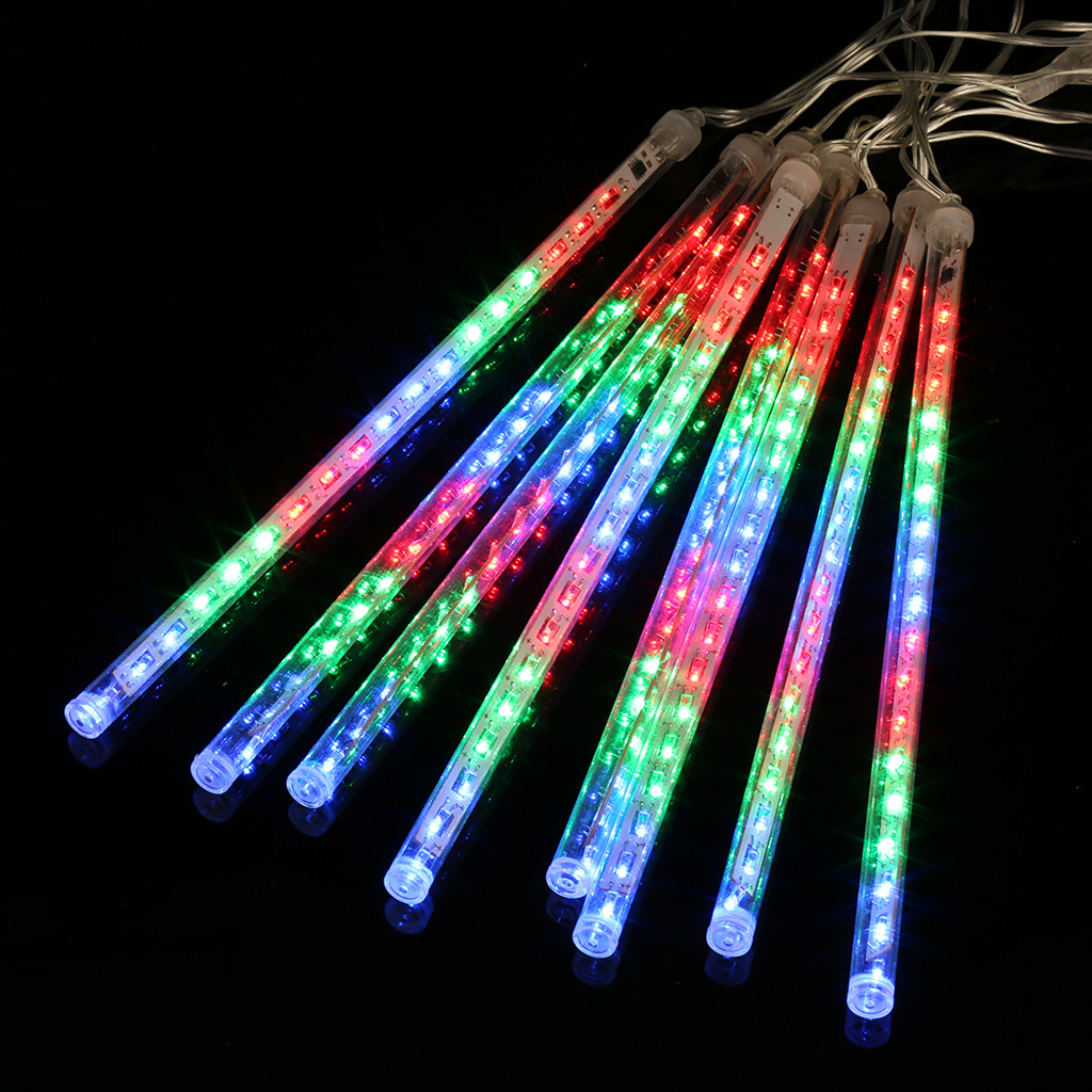 Finether EU Plug 144 LED String Lights Meteor Shower Rain Snowfall Plug-In String Light New Year/Christmas/Wedding Decoration