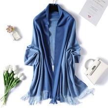 Designer 2019 winter scarf for women luxury brand cashmere scarves lady pashmina shawls and wraps bandana female echarpe Tassels
