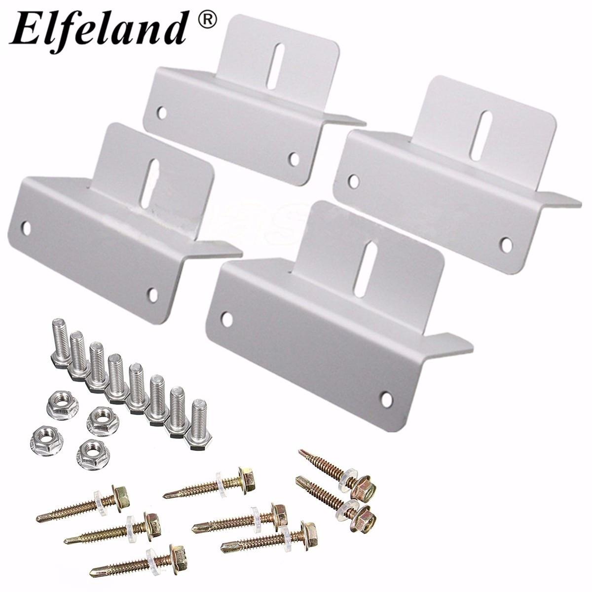 Elfeland? Mounting Bracket Set Frame Kits For Solar Panel Kits Adhesive Bond Caravan Boat coffee table