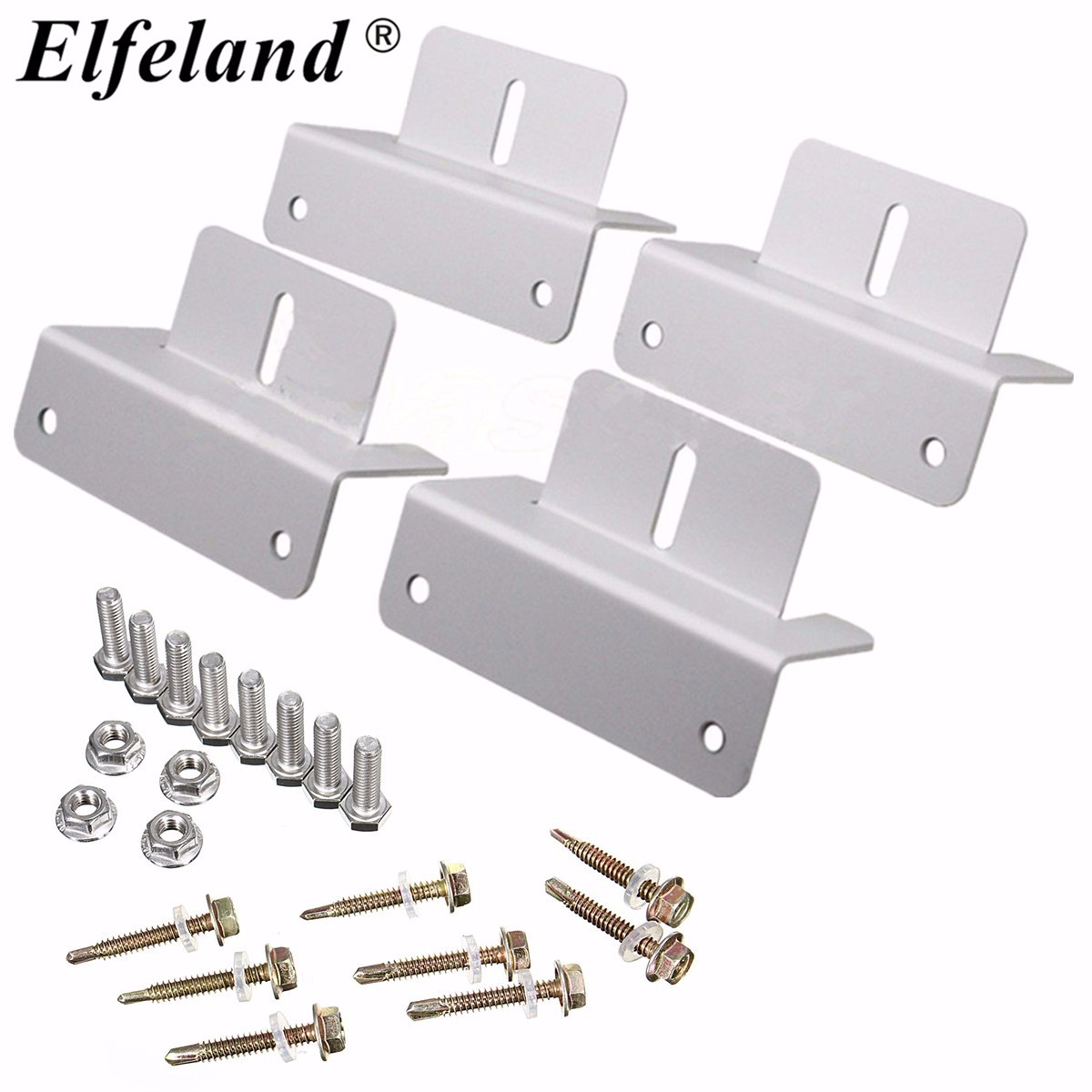 Elfeland? Mounting Bracket Set Frame Kits For Solar Panel Kits Adhesive Bond Caravan Boat