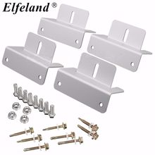 Elfeland? Mounting Bracket Set Frame Kits For Solar Panel Kits Adhesive Bond Caravan Boat(China)