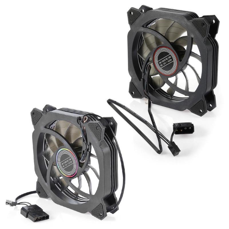 Aigo Lot 1//5pcs LED Fan 120MM PC CPU Computer Cooler Gaming Desktop Case Cooling