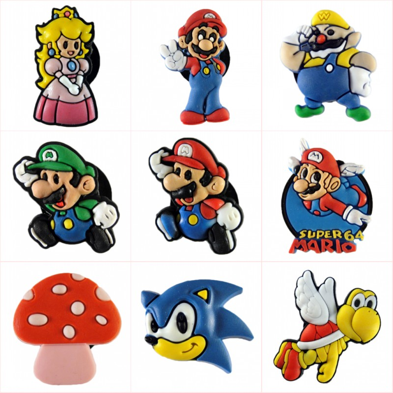 Creative 8pcs/lot Super Mario Bros Mini Figures Cartoon Pvc Cute Blackboard Decoration Magnets Magnetic Stickers Kids Birthday Gift