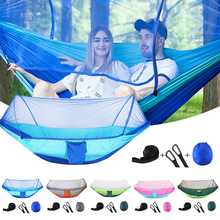 Ultralight Parachute Hammock Hunting Mosquito Net Outdoor Double Person Furniture Camping Hiking Swing Hanging Bed Chair P20 ultralight mosquito net hunting hammock camping mosquito net travel mosquito net leisure hanging bed for 2 person outdoor