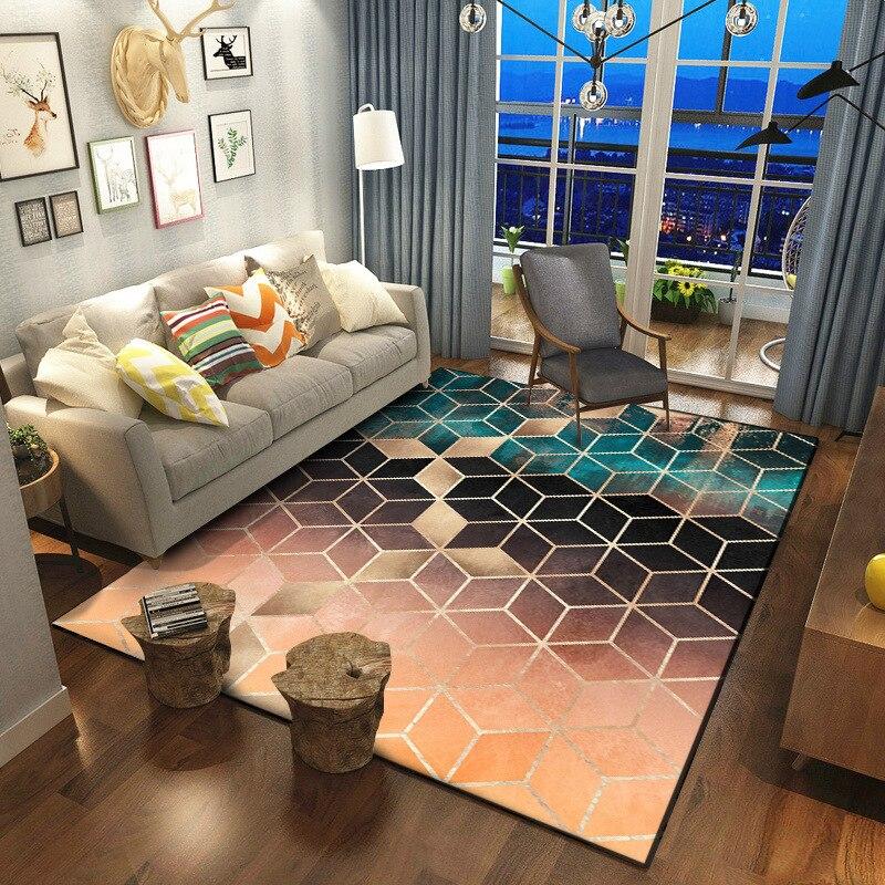 Трендовый современный металлический Золотой ковер темно зеленый/черный геометрический спальня ковры S для гостиной коврик для гостиной tapete модный Декор коврики
