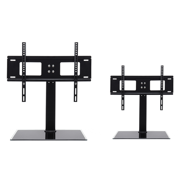Black Universal Tabletop Tv Stand Base Vesa Pedestal Tv Mount Rack