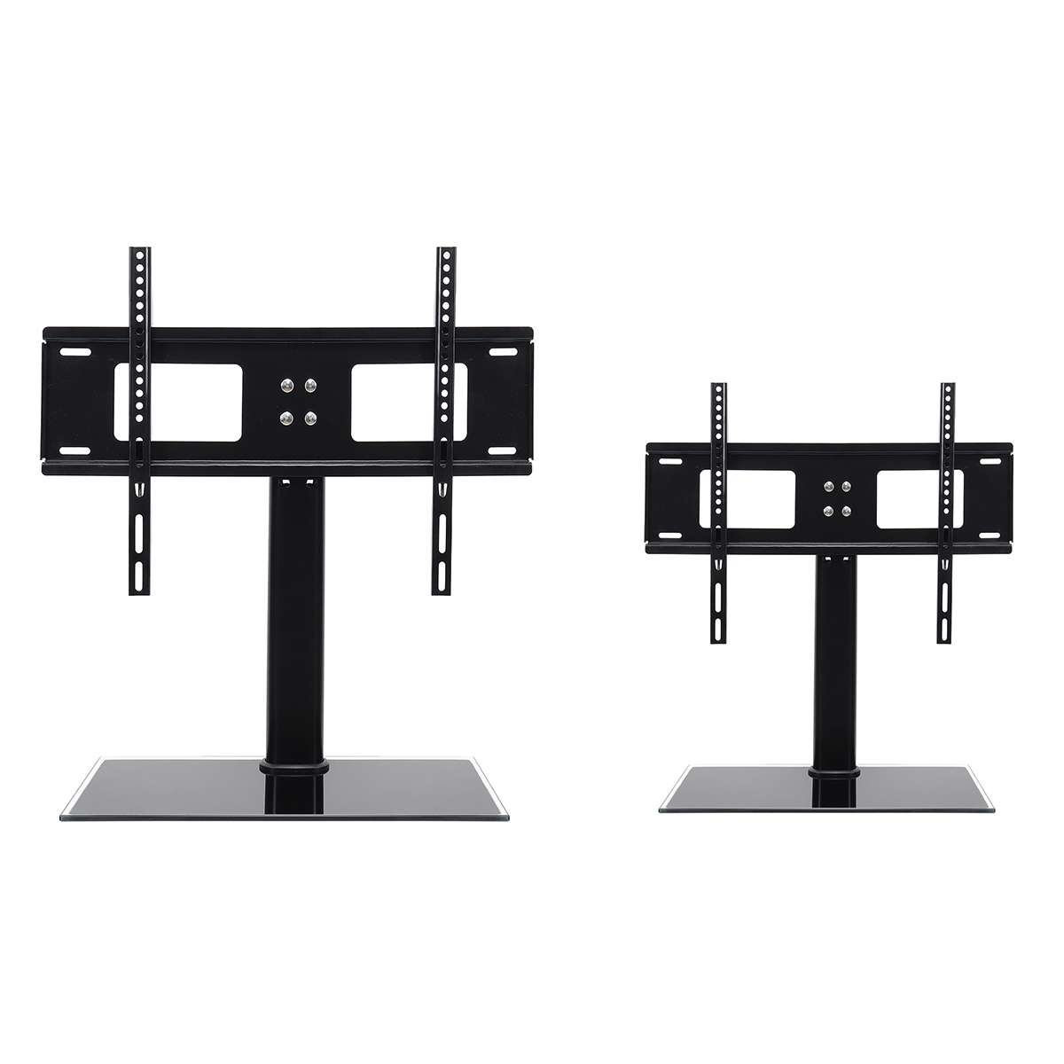 Black Universal Tabletop TV Stand Base Vesa Pedestal TV Mount Rack for Flat LCD LED 26'' 55'' Television Accessories Parts
