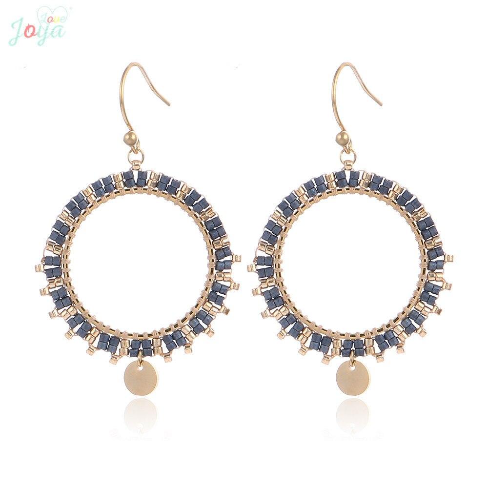 Women/'s Boho Style Fashion Colorful Beads Hollow Dangle Drop Earrings Jewelry