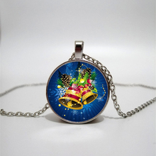 Glass Necklace Christmas Bell Handmade Personality Accessories Custom Private custom