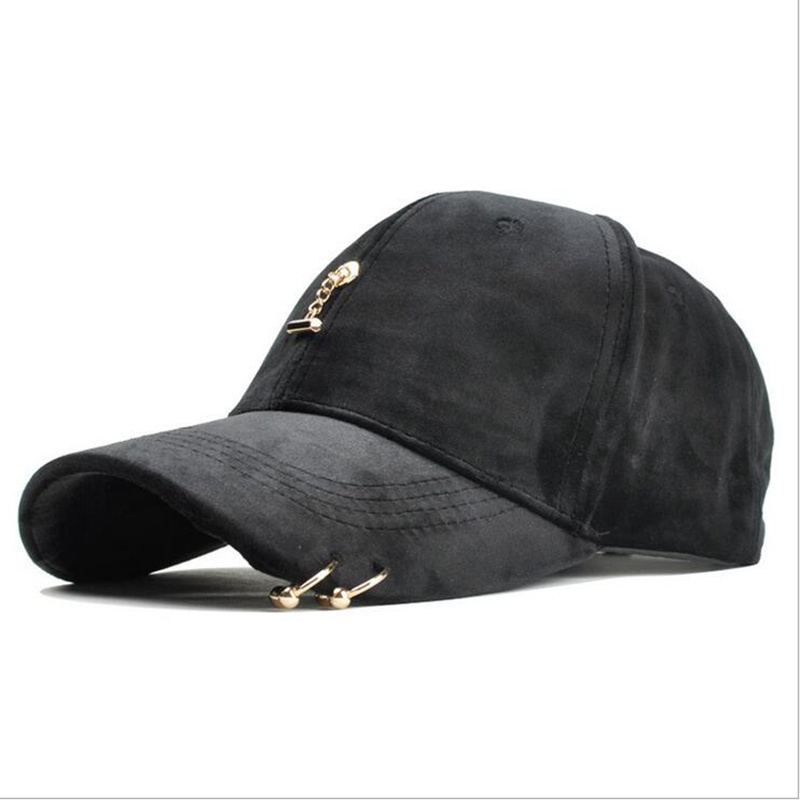 2019 New Ring Baseball Cap Women Men 39 s Fashion Brand Street Hip Hop Adjustable Caps Suede Hats For Gir Cap in Men 39 s Baseball Caps from Apparel Accessories