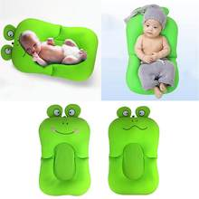 Baby Portable Bath Frog Shower Cushion Mat Bed Flower Pillow Pad Newborn Bathing Non-Slip Blooming Bathroom Bathtub Support Seat(China)