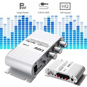 Image 5 - مضخم صوت محمول LP 808 12 فولت صغير HiFi مضخم صوت جهير فائق 3.5 مللي متر AUX للدراجة النارية MP3 Mp4 PC مع التحكم في مستوى الصوت