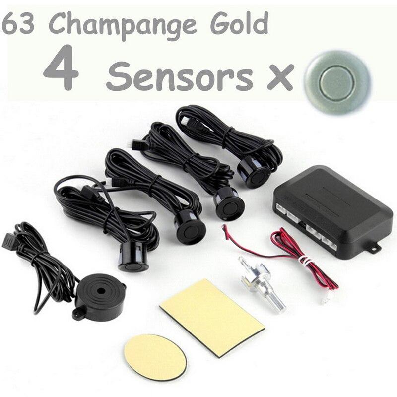 Beste verkauf sound summer 12V 4 Sensoren 44 farben für option Auto Parkplatz Sensor Kit ohne Display Radar sound alert System