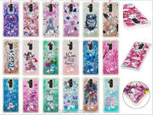 Shockproof Soft TPU Case 3D Liquid Quicksand Diamond For Huawei MATE 20 PRO Lite Google Pixel 3 XL OWL Cartoon Skin Cover 1pcs(China)