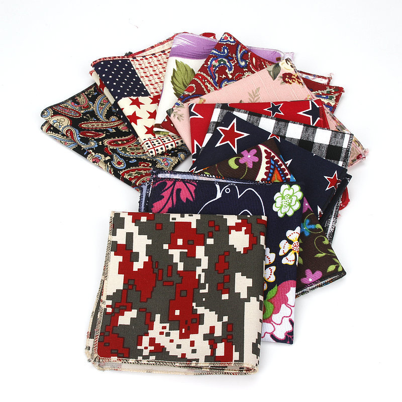 Men Handkerchief Bowtie Party Floral Jacquard Pocket Square Wedding Necktie Vintage Hankies For Pocket Towel Business Tie