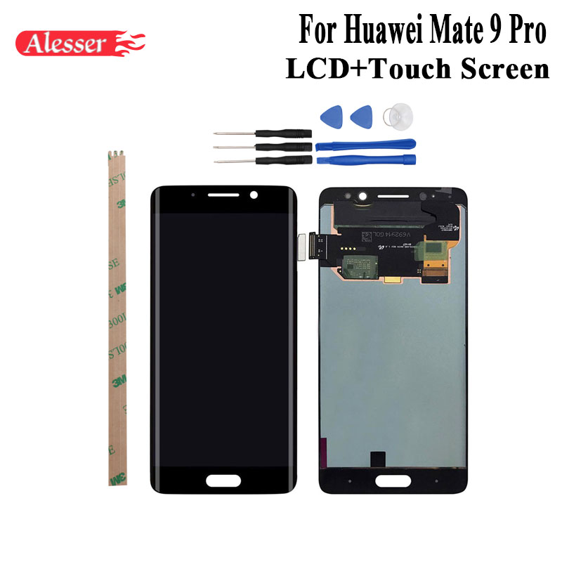 Alesser For Huawei Mate 9 Pro LCD Display and Touch Screen Assembly Repair Parts With Tools And Adhesive For Huawei Mate 9 ProAlesser For Huawei Mate 9 Pro LCD Display and Touch Screen Assembly Repair Parts With Tools And Adhesive For Huawei Mate 9 Pro