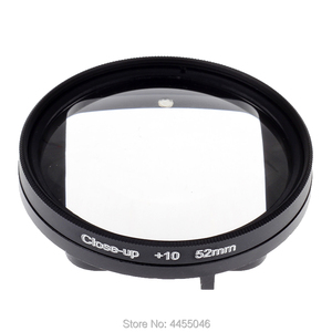 Image 3 - For Gopro 4/3+ Filter 52mm Close up +10 Macro Lens Adapter Ring for gopro Hero 4/3+/3 waterproof case  Glass Accessories