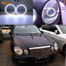 Для Mercedes Benz e class w211 E200 E220 E270 E280 E320 E420 CDI 2003-2009 Ультра яркое освещение COB комплект светодиодов «глаза ангела»