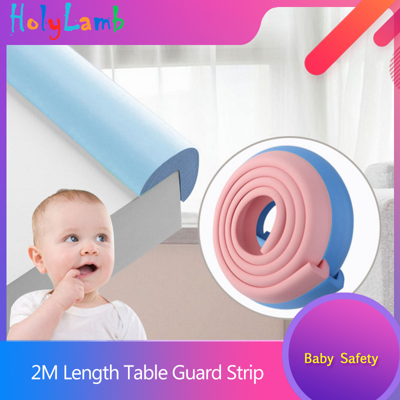 2M Length Table Guard Strip Children Protection Baby Safety Products Glass Edge Furniture Corner Security Securite Enfant Castle