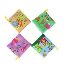 Купить с кэшбэком 4 Style Baby Toys Soft Cloth Books Rustle Sound Infant Educational Stroller Rattle Toy Newborn Crib Bed Baby Toys 0-36 Months