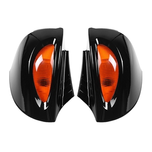For BMW R1100RT R1150RT R850RT 1 Pair Rearview Glass Side Mount Mirrors with Signal Lens mirror cover Motorcycle Rearview Mirror(China)