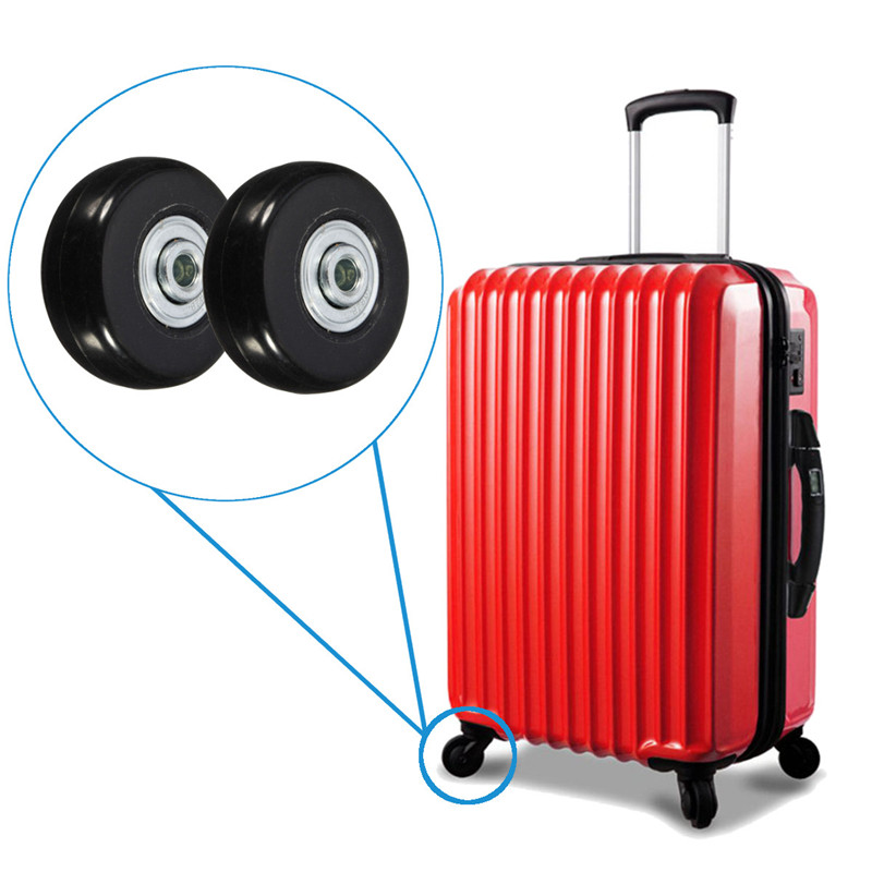 2pcs 45x18mm Travel Luggage Suitcase Wheels Axles Repair Set Replacement Luggage Wheels With Screw