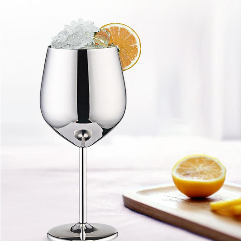 Wine Glasses Copper Silver Rose Gold Stainless Steel Goblet Juice Drink Champagne Goblet Party Barware Kitchen