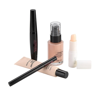 Cosmetic Makeup Set for Beginner Lip Balm BB Cream Eyebrow Pencil Mascara Makeup Base Face Cosmetic Gift