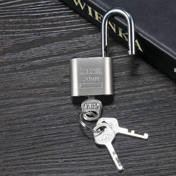 Szafka bagażowa bezpieczeństwo metalowa kłódka złoty srebrny Tone z 3 kluczami zamki do sprzętu domowego Drop Shiping tanie i dobre opinie U Kształt Blokady Mini Lock Locker door lock