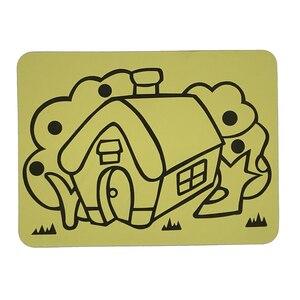 Image 5 - Ücretsiz kargo 2000 adet/lot kartları Renkli Kum için art_15x21cm sıcak satış