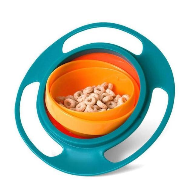 Babyvoeding Schotel Leuke Baby Gyro Bowl Universal 360 Roteren Spill-Proof Bowl