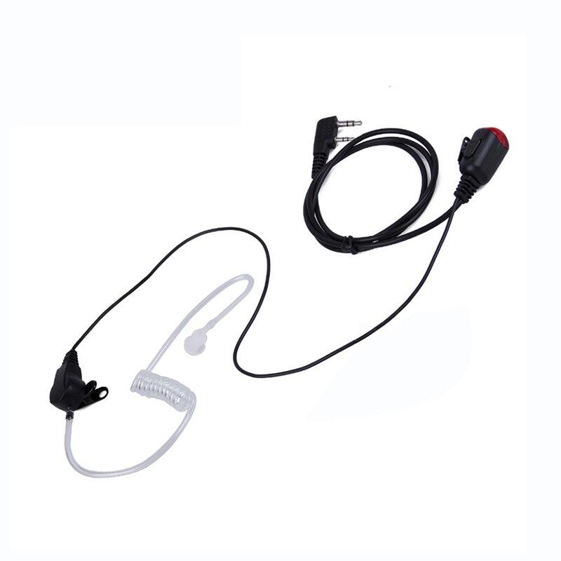 2 PIN Mic PTT Covert Acoustic Tube In-ear Earpiece for Kenwood Baofeng uv 5r 888s Walkie Talkie C2275A Earphone Headset Newest