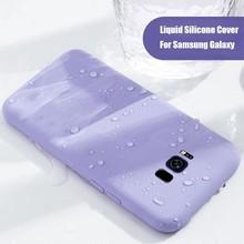 Soft Silicone Case Original Protector For Samsung Galaxy S10 S9 S8 Plus Cover High Quality For Samsung Note 8 9 J6 A7 2018 Funda original and sbc81203 rev a7 rc high quality