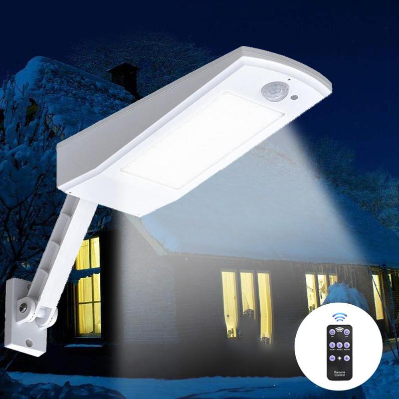 1000LM Led Solar Light PIR Motion Sensor 66 LED Wall Lamp Outdoor Waterproof Lighting For Garden Wall Rotable Pole Solar Lamp