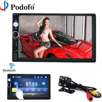 Podofo 2 din car radio 7 HD Player MP5 Touch Screen Digital Display Bluetooth Multimedia USB 2din Autoradio Car Backup Monitor