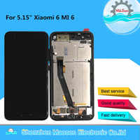 "Original M&Sen For 5.15"" Xiaomi 6 MI 6 Mi6 M6 MI6 With Fingerprint LCD Display Screen With Frame+Touch Panel Screen Digitizer"