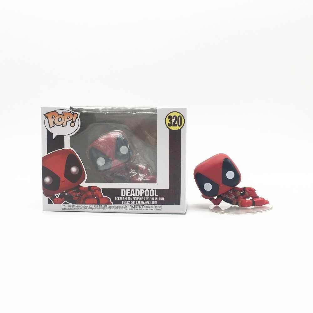 Brinquedos Funko POP DEADPOOL Marvel Super Hero Action Figure Brinquedos para o Amigo Presente de Aniversário Crianças Coleção Para Os Fãs de Cinema