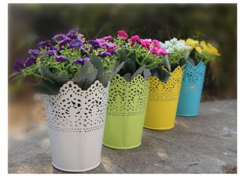Makeup Brush Pen Container Plastic Economic Lace Plant Vase Pot Flower Vase