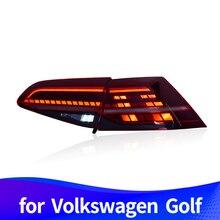 Хвост светильник в сборе для Volkswagen Golf 7 2013 светодиодный привод светильник светодиодный стоп-сигнал светильник светодиодный последовательный сигнал поворота