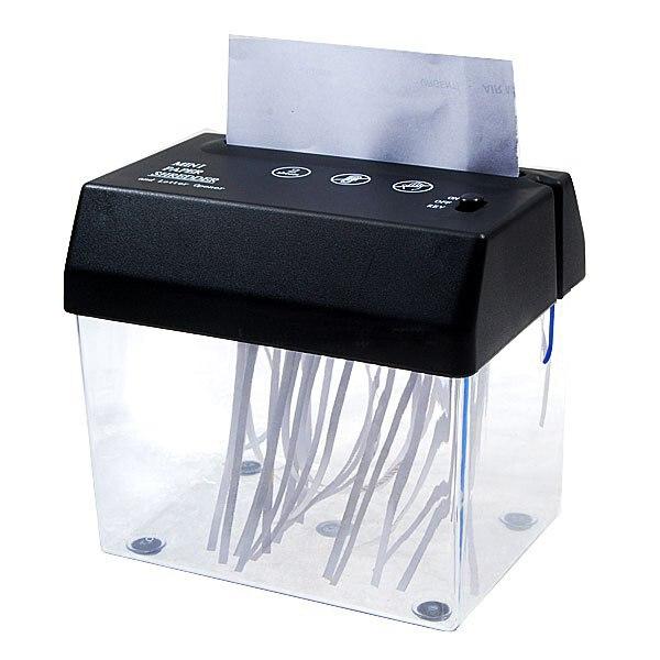 Escritorio A5 o A4 plegado de papel de corte de tiras Mini pequeña trituradora USB para el hogar/oficina-batería o alimentado por USB