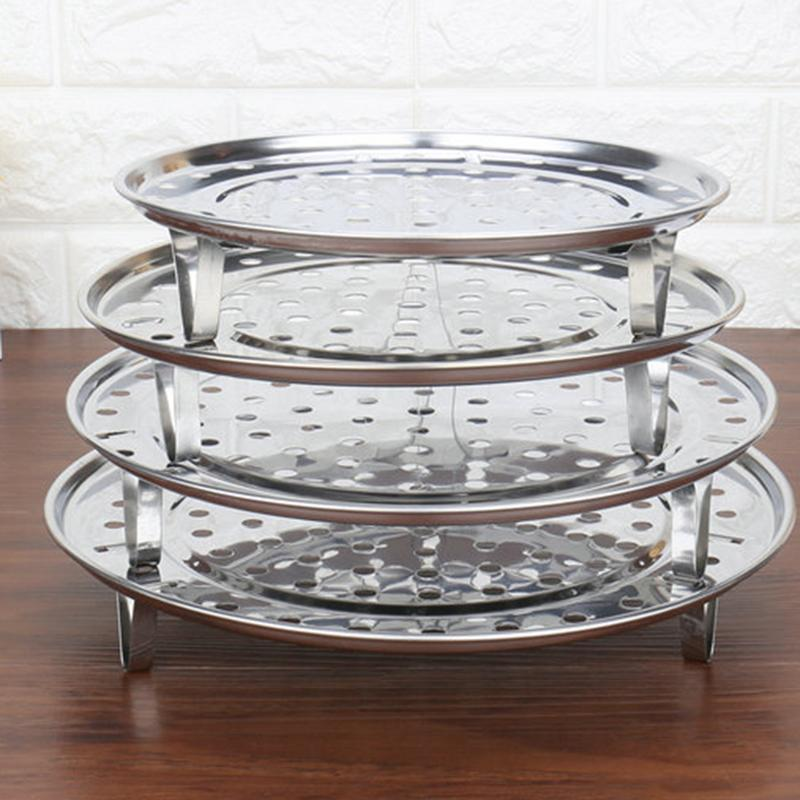 Stainless Steel Shelf Insulated Three-Leg Steamer Dumpling Tray Round Steamer Kitchen Cooking Tools
