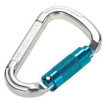 25kN Professional D Buckle Autolock Self Locking Aluminum Alloy Carabiner for Climbing Caving Rappelling Rescue Engineering