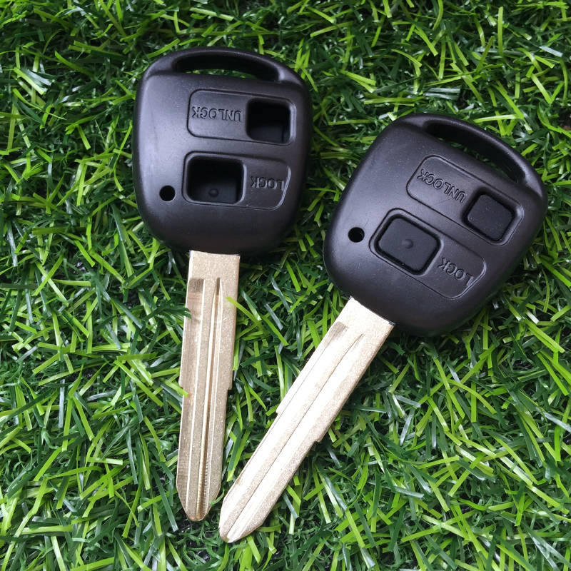 Image 3 - 2 button Remote key case shell For key toyota Yaris prado Corolla camry replacement Control Car Key cover with button rubber pad-in Car Key from Automobiles & Motorcycles