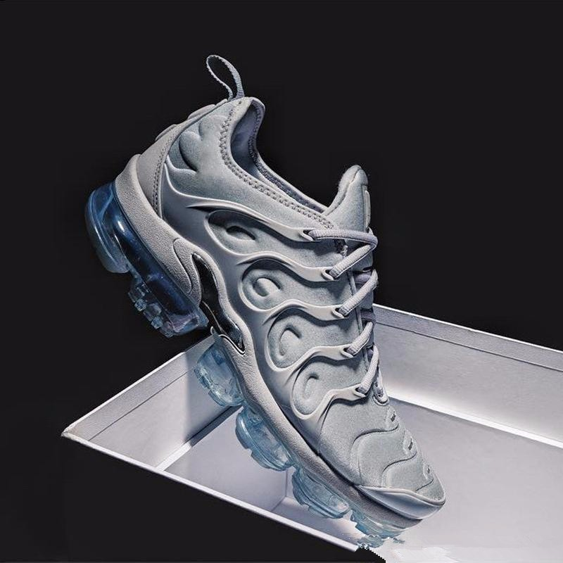 new arrival 10507 97614 2018 New Air Vapormax Plus Tn Plus Olive In Metallic White Silver Colorways  Shoes Men Shoes