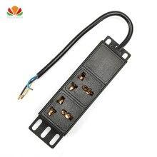 1U 10A 2 единицы универсальный разъем PDU стойка сетевого шкафа мощность полосы распределения розетка с клеммным блоком для ЕС США Разъем