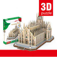 New Cube 3D Creative Puzzle Difficult Italy Milan Cathedral Simulation Building Assembly Model Christmas Gift Free Shipping