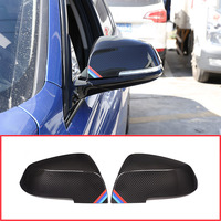 2pcs Car Rear View Mirror Cover 1 2 3 4 Series Side Asa Cobrir Parte Para BMW F20 F30 F31 F21 F22 F23 F32 F33 F34 F35 X1 E84 13-19